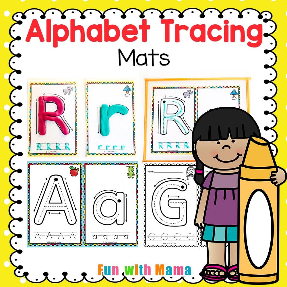Alphabet Tracing Mats - Play Dough Mats