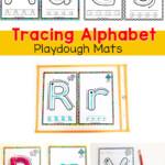 Alphabet Tracing Playdough Mats - Fun With Mama