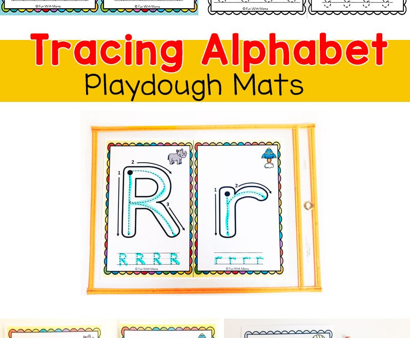 Alphabet Tracing Playdough Mats - Fun With Mama