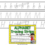 Alphabet Tracing Strips Qld Beginners Font