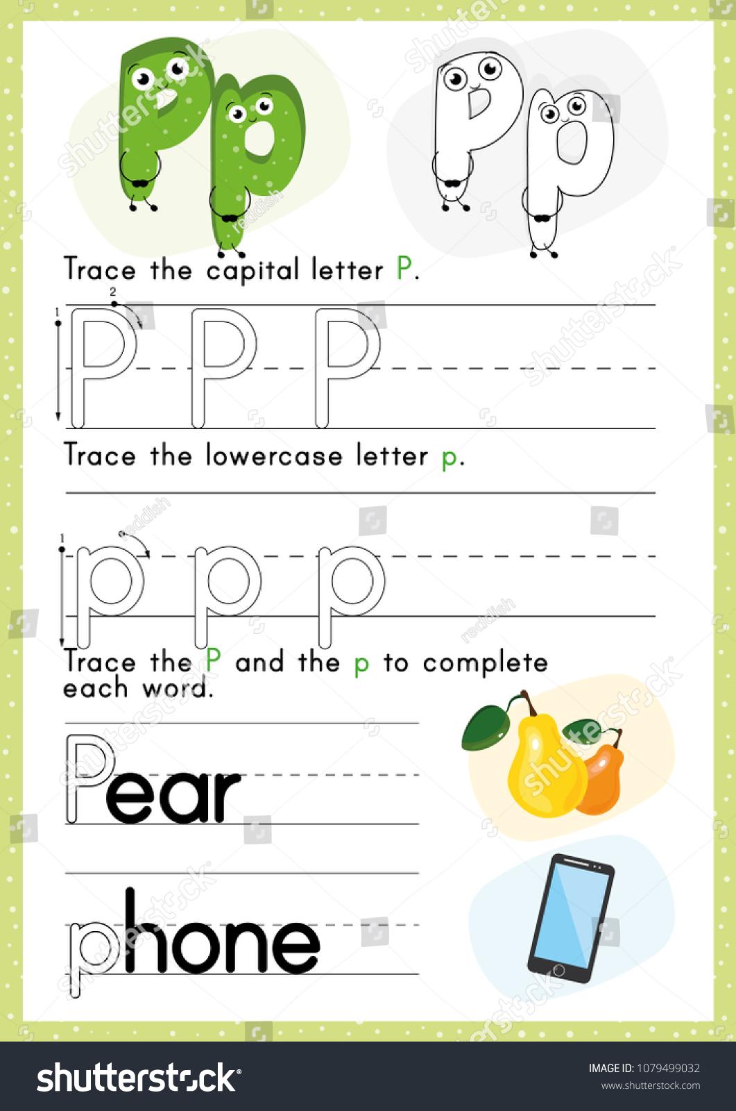 Alphabet Tracing Worksheet Alphabet Activity Pre Stock