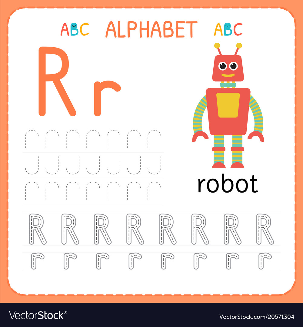 Alphabet Tracing Worksheet For Preschool And