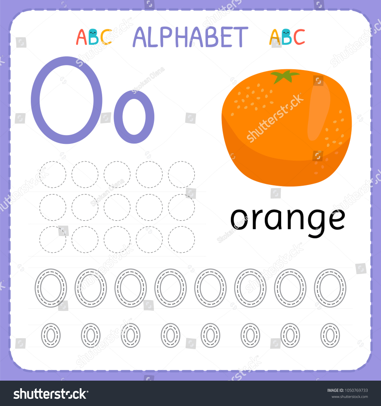 Alphabet Tracing Worksheet Preschool Kindergarten Writing