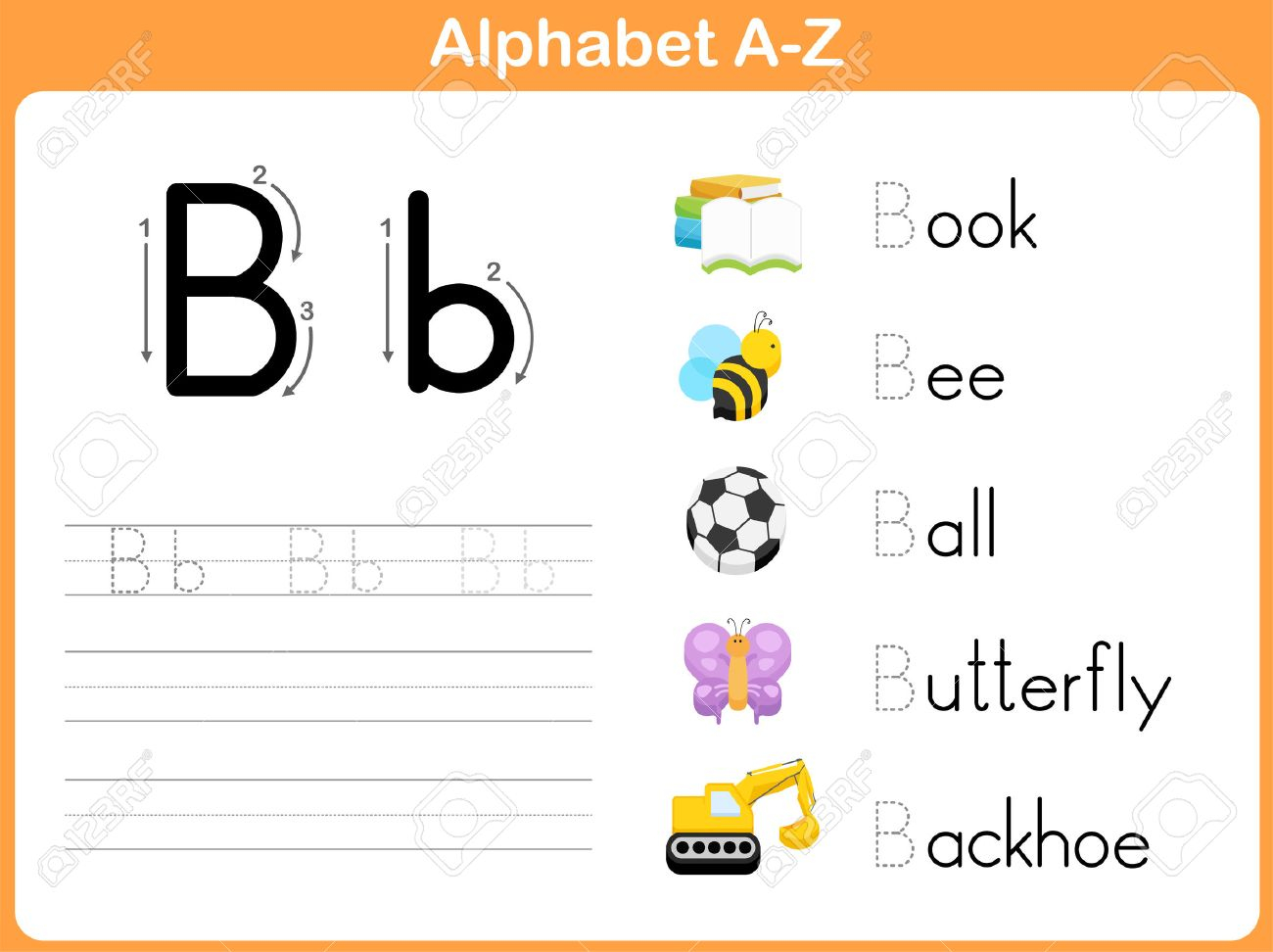 Alphabet Tracing Worksheet: Writing A-Z