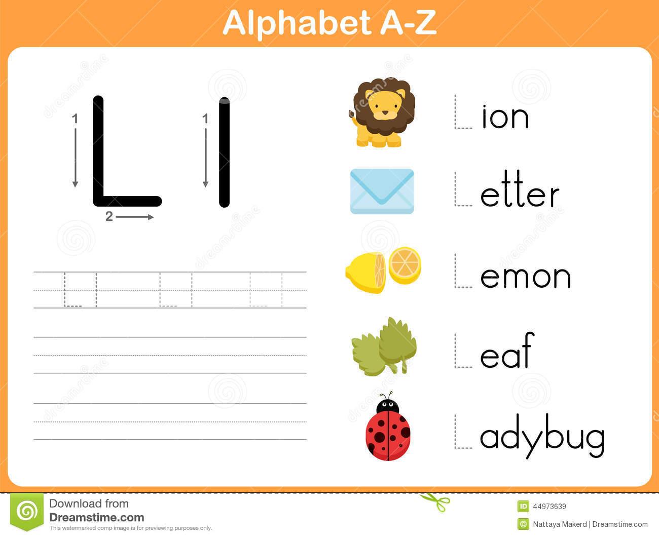 Alphabet Tracing Worksheet: Writing A-Z Illustration