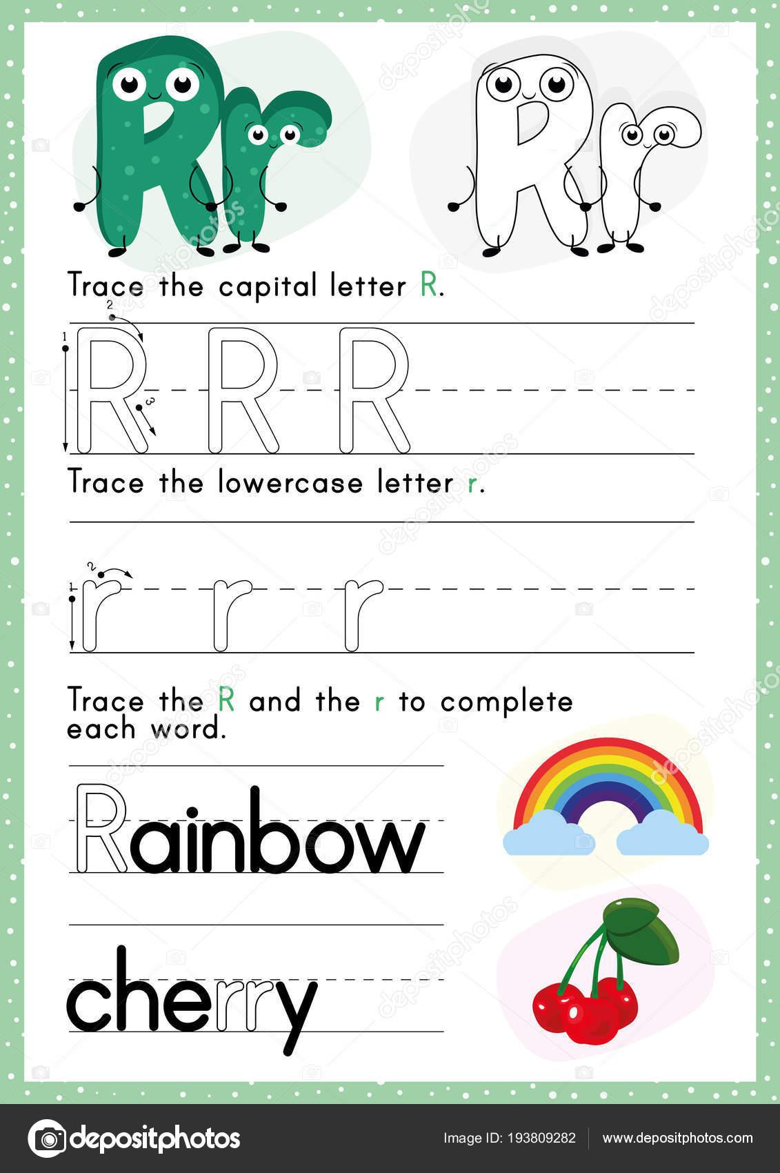 Alphabet Tracing Worksheet Writing Exercises Kids Paper