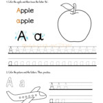 Alphabet Tracing Worksheets - How To Write Letter A
