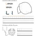 Alphabet Tracing Worksheets - How To Write Letter L