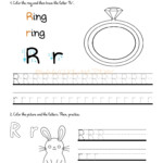 Alphabet Tracing Worksheets - How To Write Letter R