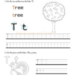 Alphabet Tracing Worksheets - How To Write Letter T