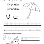 Alphabet Tracing Worksheets - How To Write Letter U