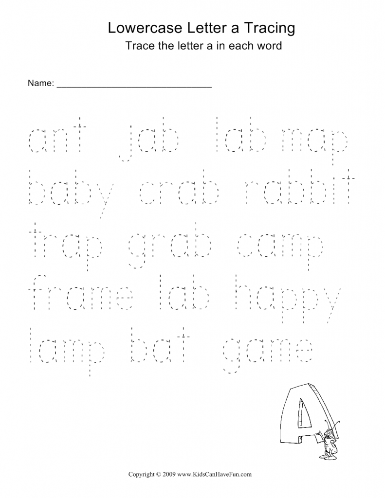 Alphabet Tracing Worksheets, Trace Letters, Word Tracing