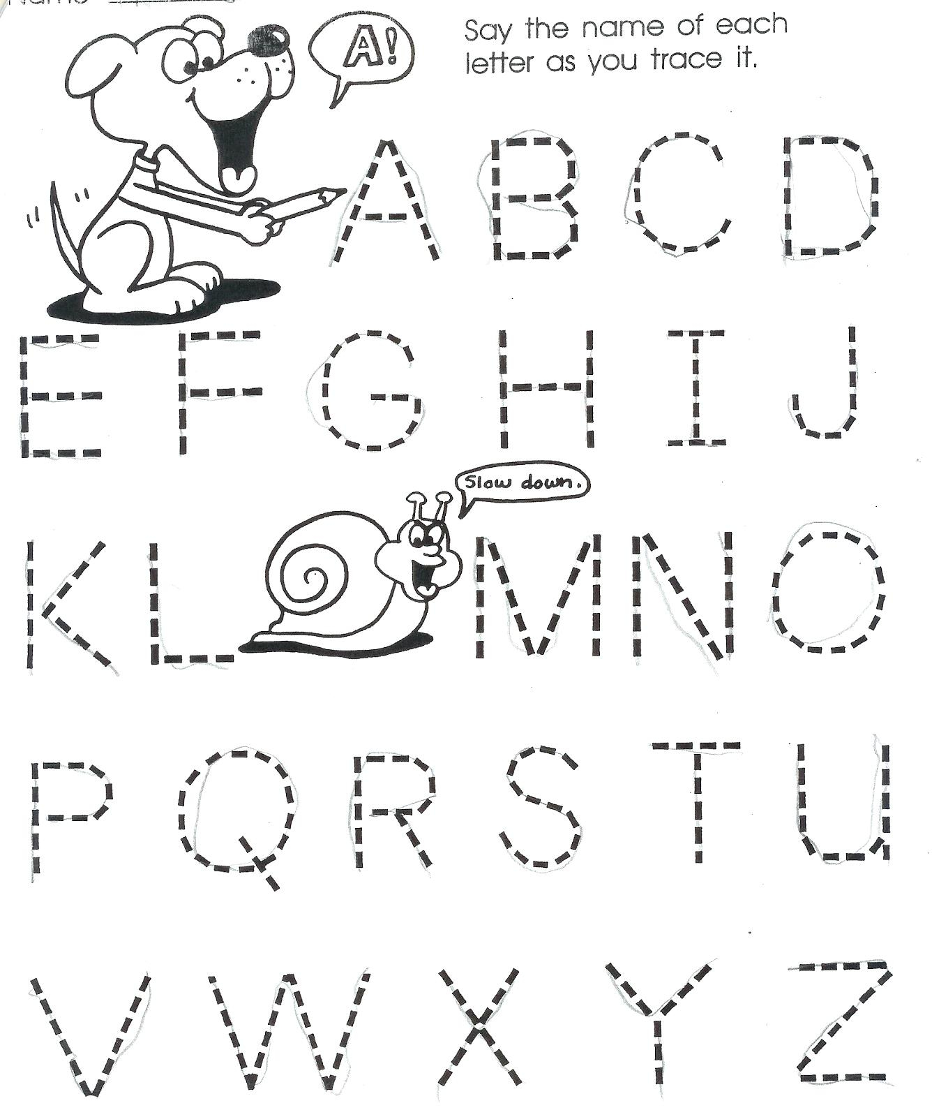Alphabet Worksheets For 2 Year Olds Alphabet Worksheets For