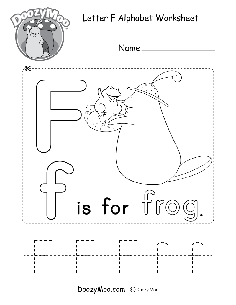 Alphabet Worksheets (Free Printables) - Doozy Moo