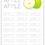 Apple Word Tracing Worksheet | Tracing Worksheets, Name