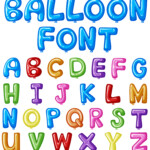 Balloon Font Design For English Alphabets In Many Colors