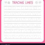 Basic Writing Trace Line Worksheet For Kids