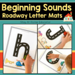 Beginning Sounds Roadway Letter Tracing Mats