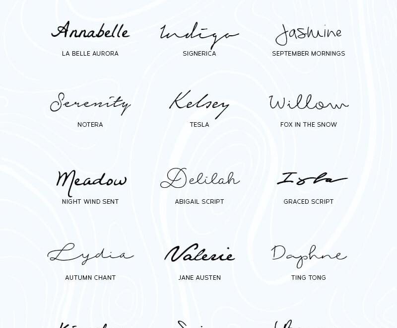 Best Free Script Handwriting Fonts | Wild Side Design Co.