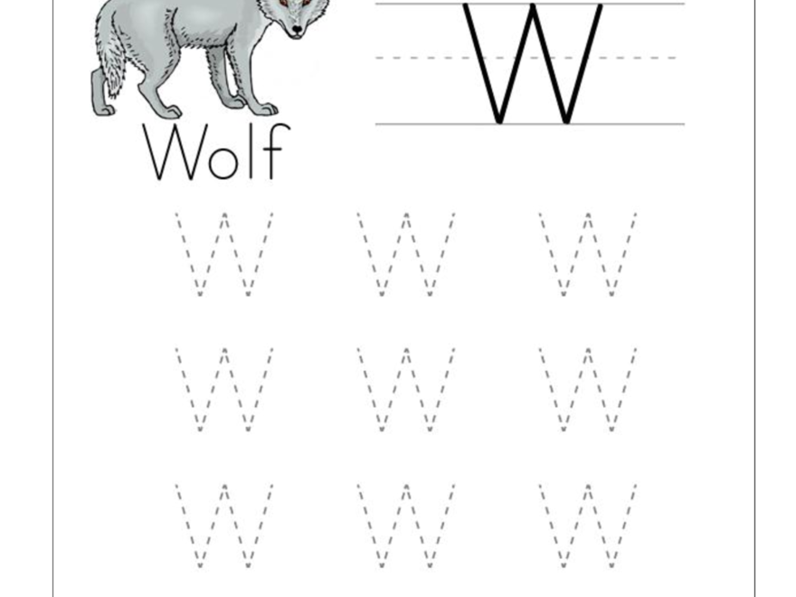 Big W Tracing Worksheet Doc .. | Tracing Worksheets Preschool