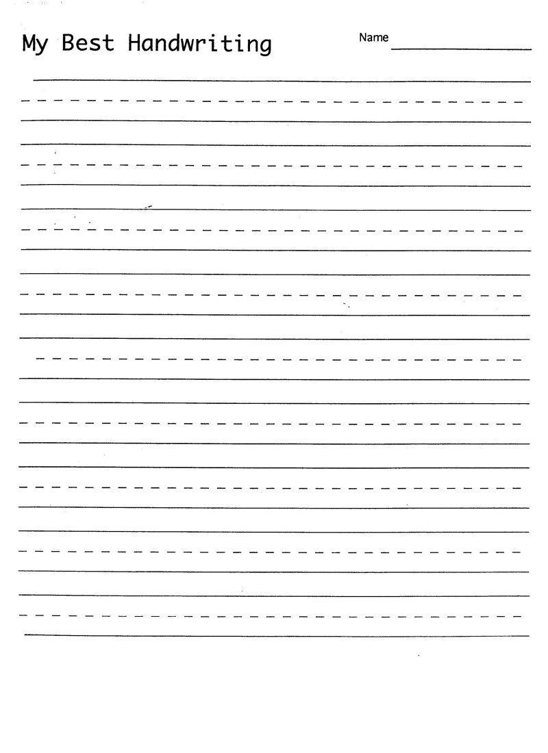 Blank Hand Writing Sheet | Handwriting Practice Sheets, Free