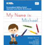Brown-Haired Boy Personalized Writing Practice Tablet