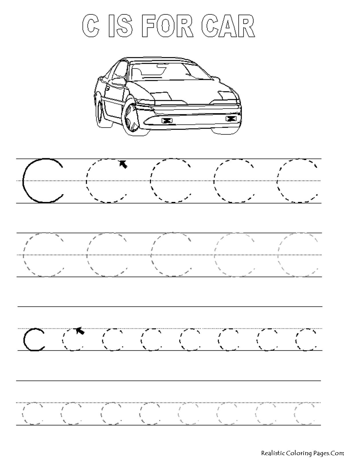 C Letters Alphabet Coloring Pages | Abc Tracing, Alphabet