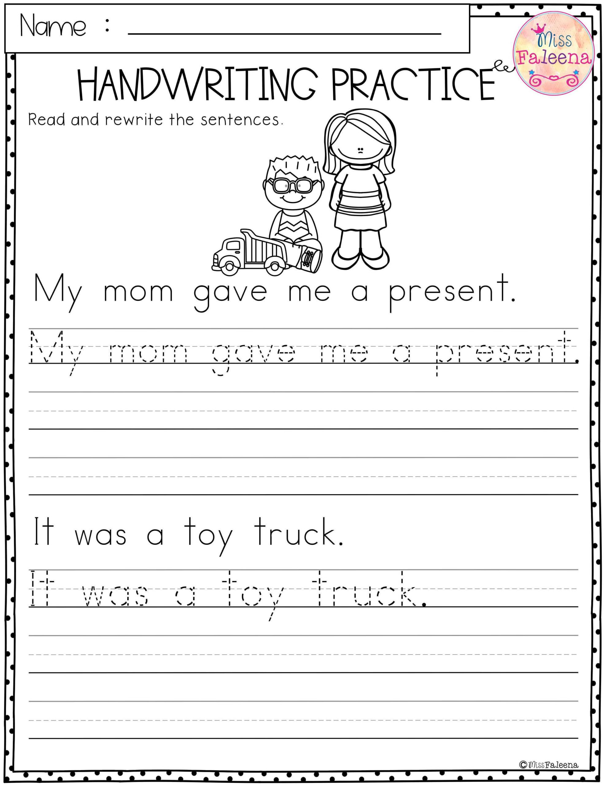 Christmas Handwriting Practice | Handwriting Practice