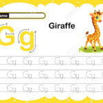 Colorful Letter G Uppercase And Lowercase Alphabet G, Tracing..