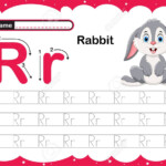 Colorful Letter R Uppercase And Lowercase Alphabet R, Tracing..
