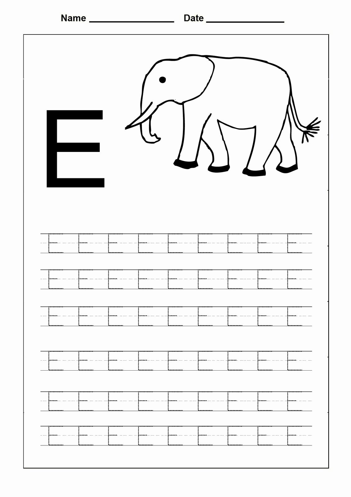 Coloring Capital Letters Print In 2020 | Letter E Worksheets