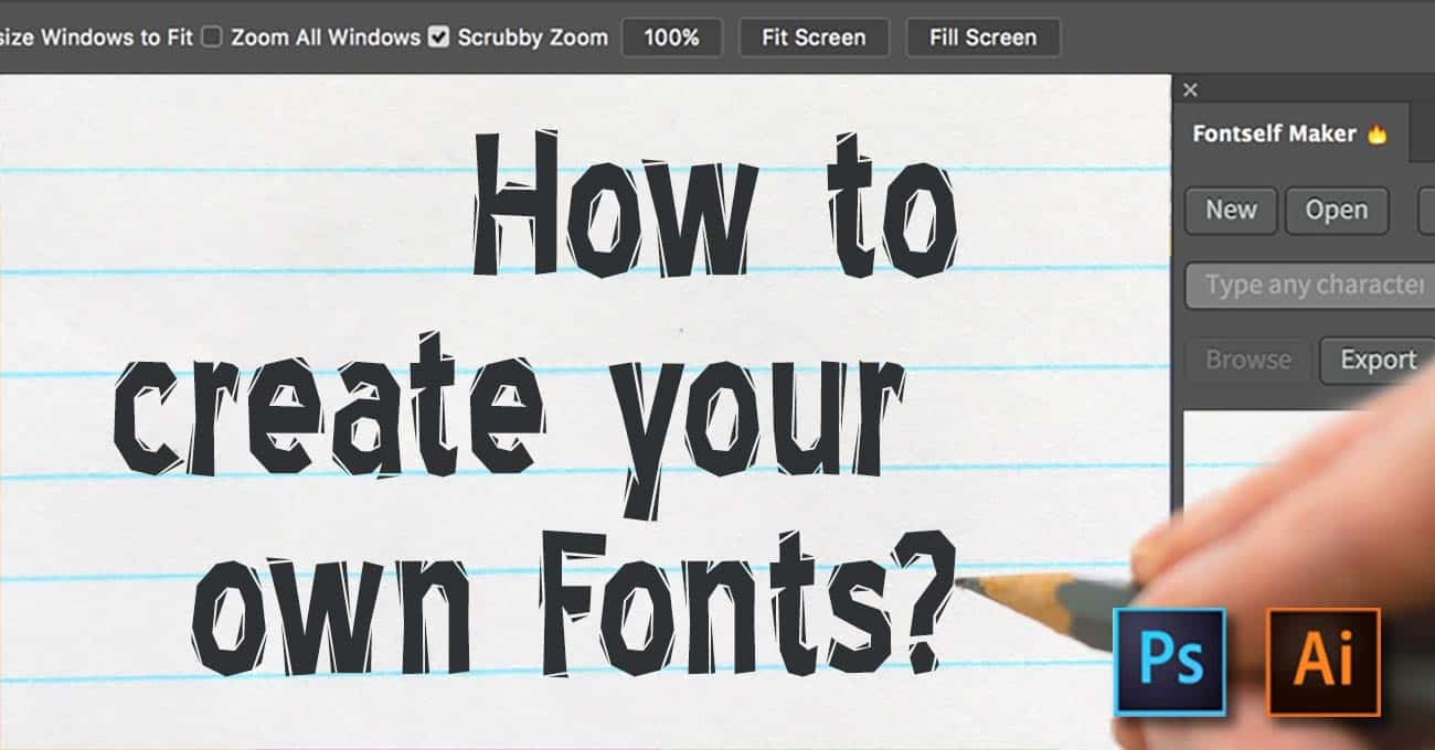 Create Your Own Font With Fontself