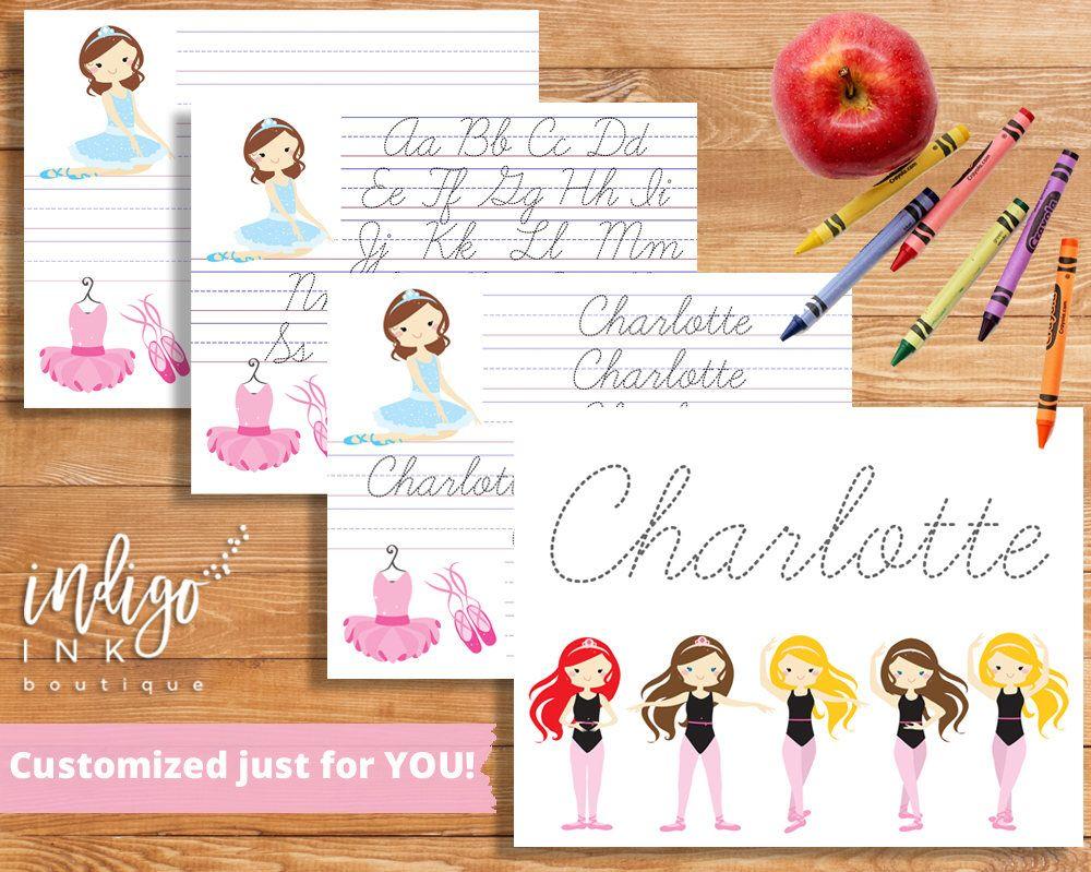 Cursive Handwriting Worksheet Digital | Custom Name Writing