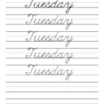Cursive Handwriting Worksheets Days Of The Week Supplyme