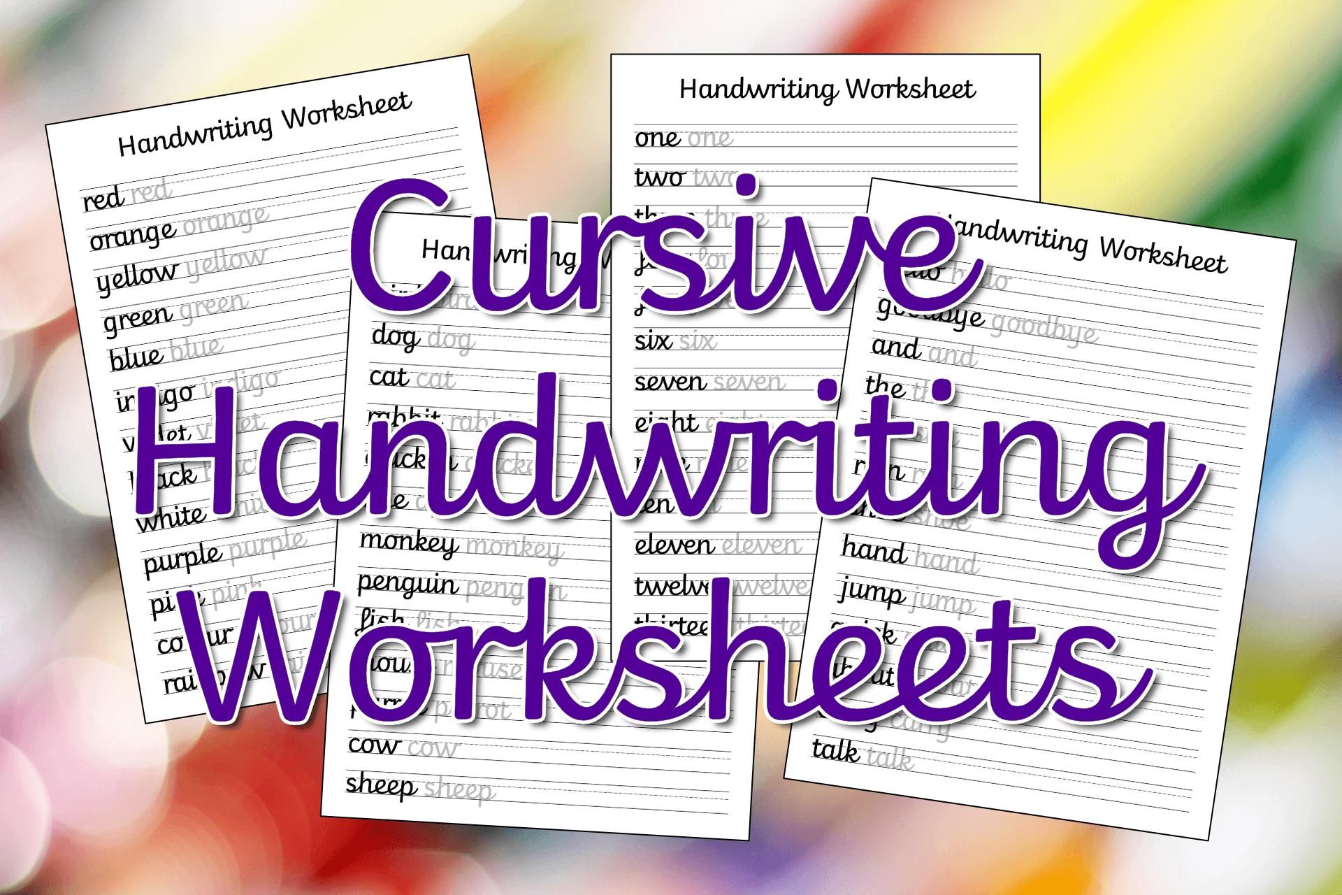 Cursive Handwriting Worksheets – Free Printable! | Mama Geek