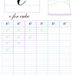 Cursive Small Letter 'c' Worksheet | Cursive Small Letters