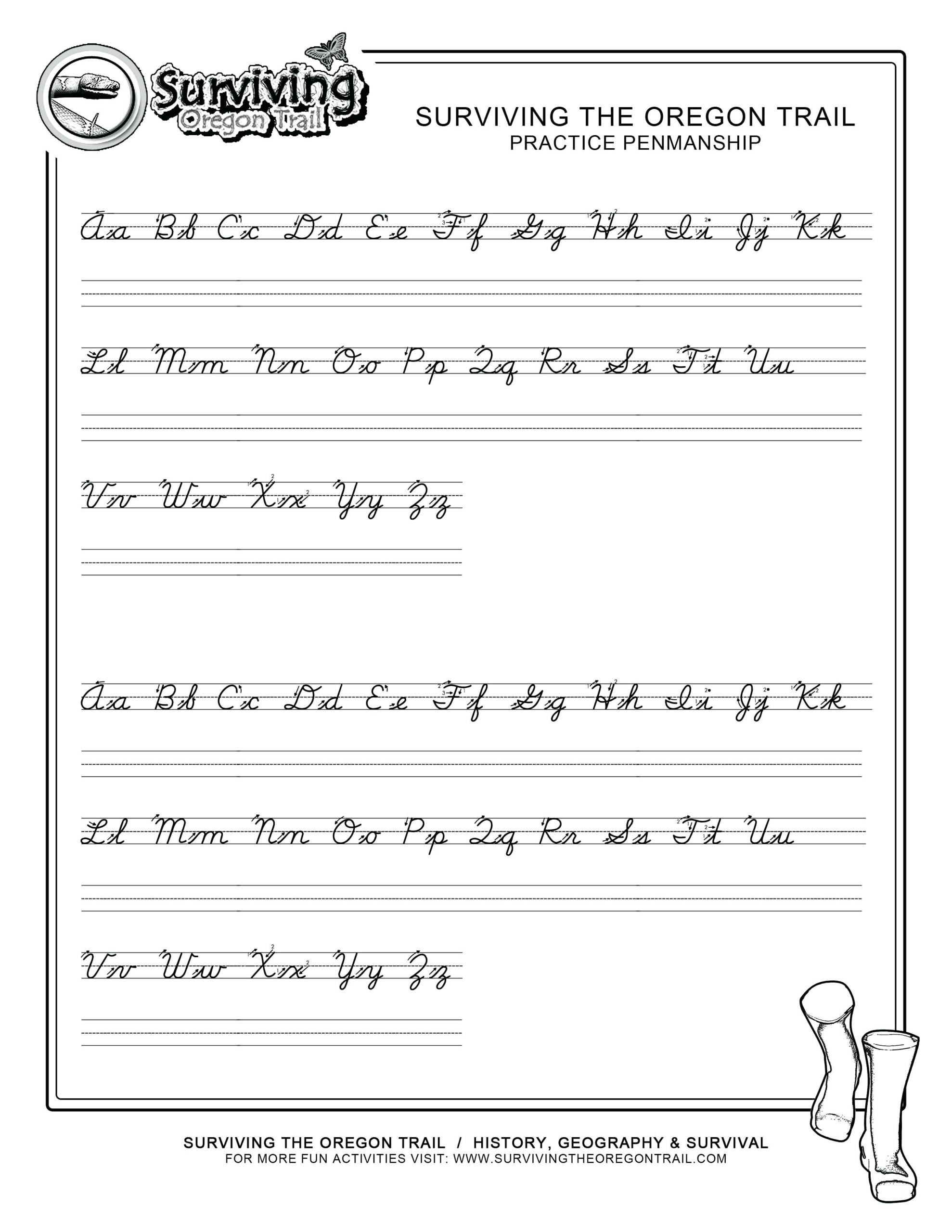 Cursive Work Sheets Cursive Letters Worksheets Printable A Z