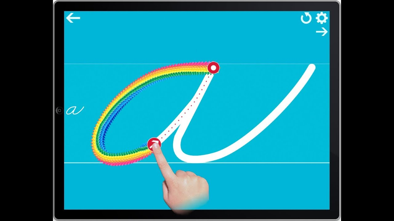 Cursive Writing Wizard Demo - Tracing App For Ipad, Iphone & Android