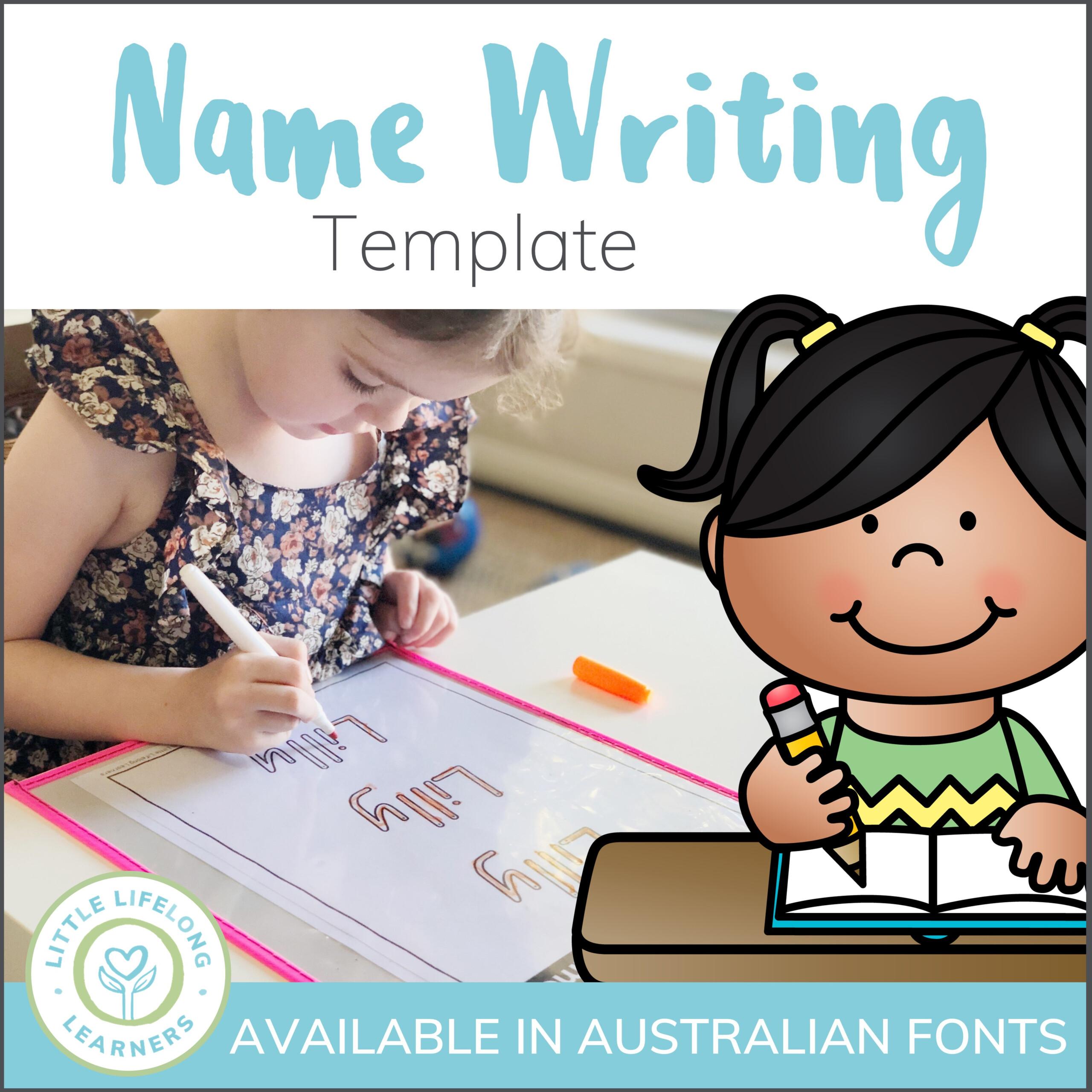 Custom Name Writing Printable