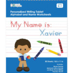 Dark-Haired Boy Personalized Writing Practice Tablet