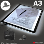 Details About A3 Led Light Box Tracing Board Art Design Stencil Drawing  Thin Pad Copy Led Box