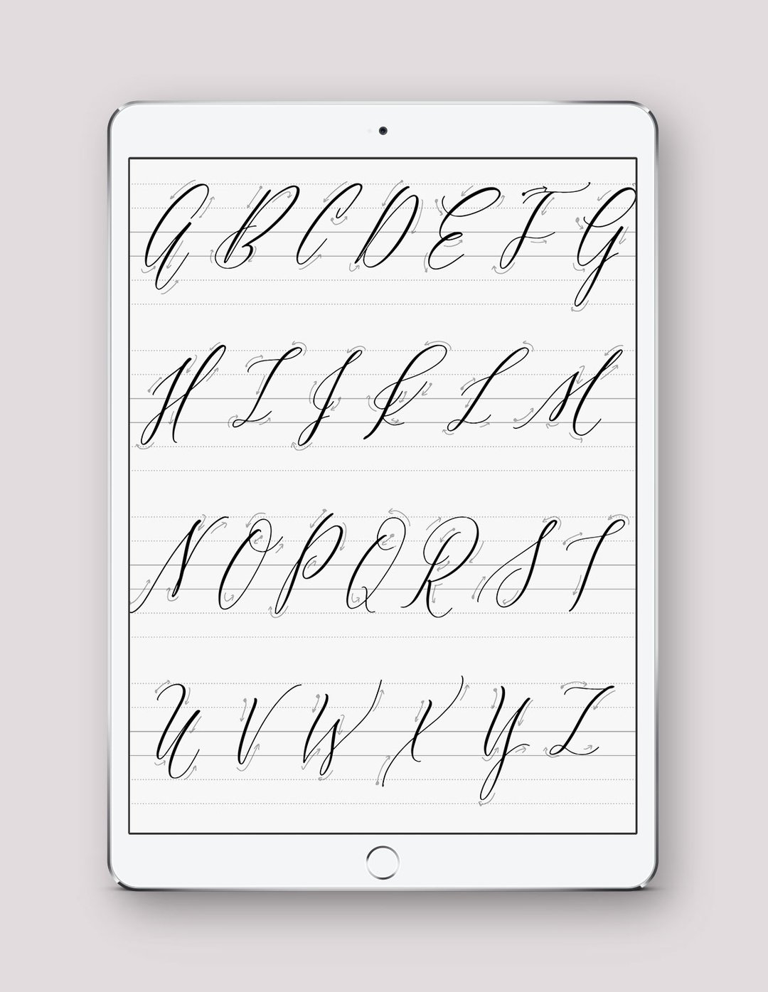 Digital And Printable Calligraphy Practice Guides - Saffron