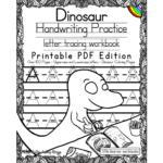 Dinosaur Handwriting Practice – Printable Pdf – Little