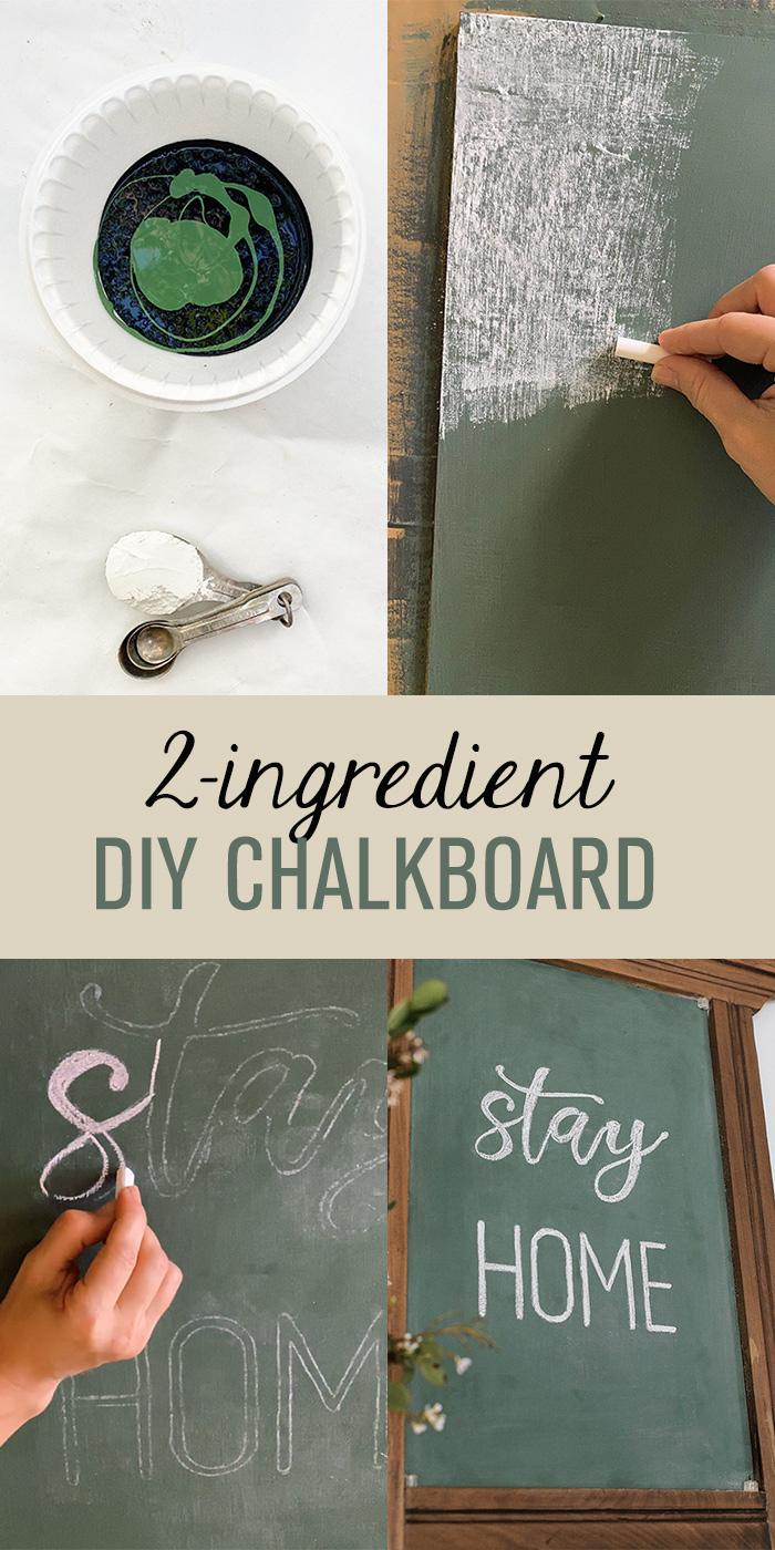 Diy 2-Ingredient Chalkboard
