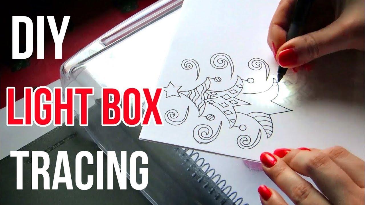 Diy Light Box Tracing || Art Tips