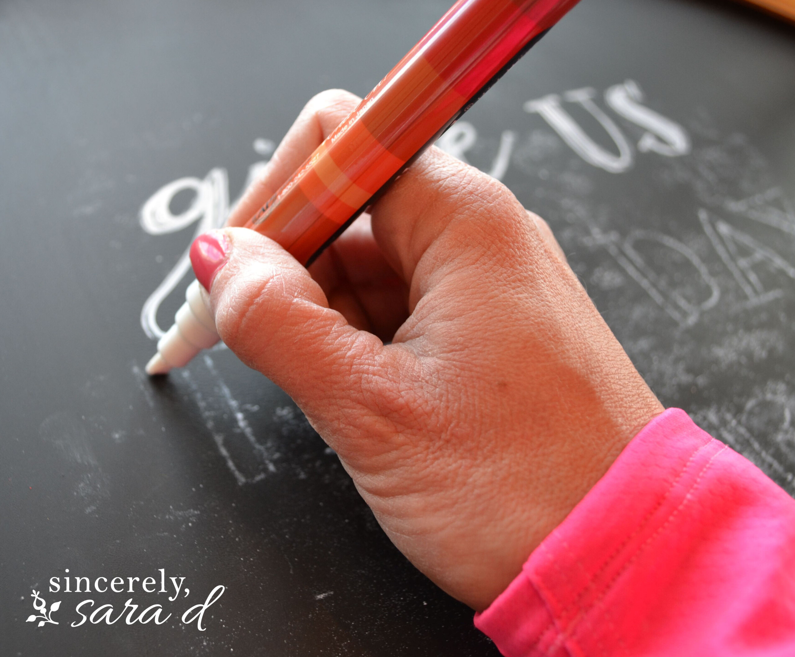 Diy Perfect Chalkboard Lettering - Sincerely, Sara D. | Home