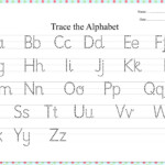 Dotted Alphabet Trace Practice Worksheet | Practices