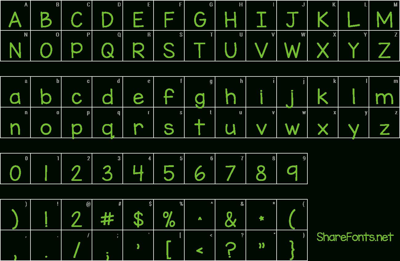 Download Free Font Kg Miss Kindergarten