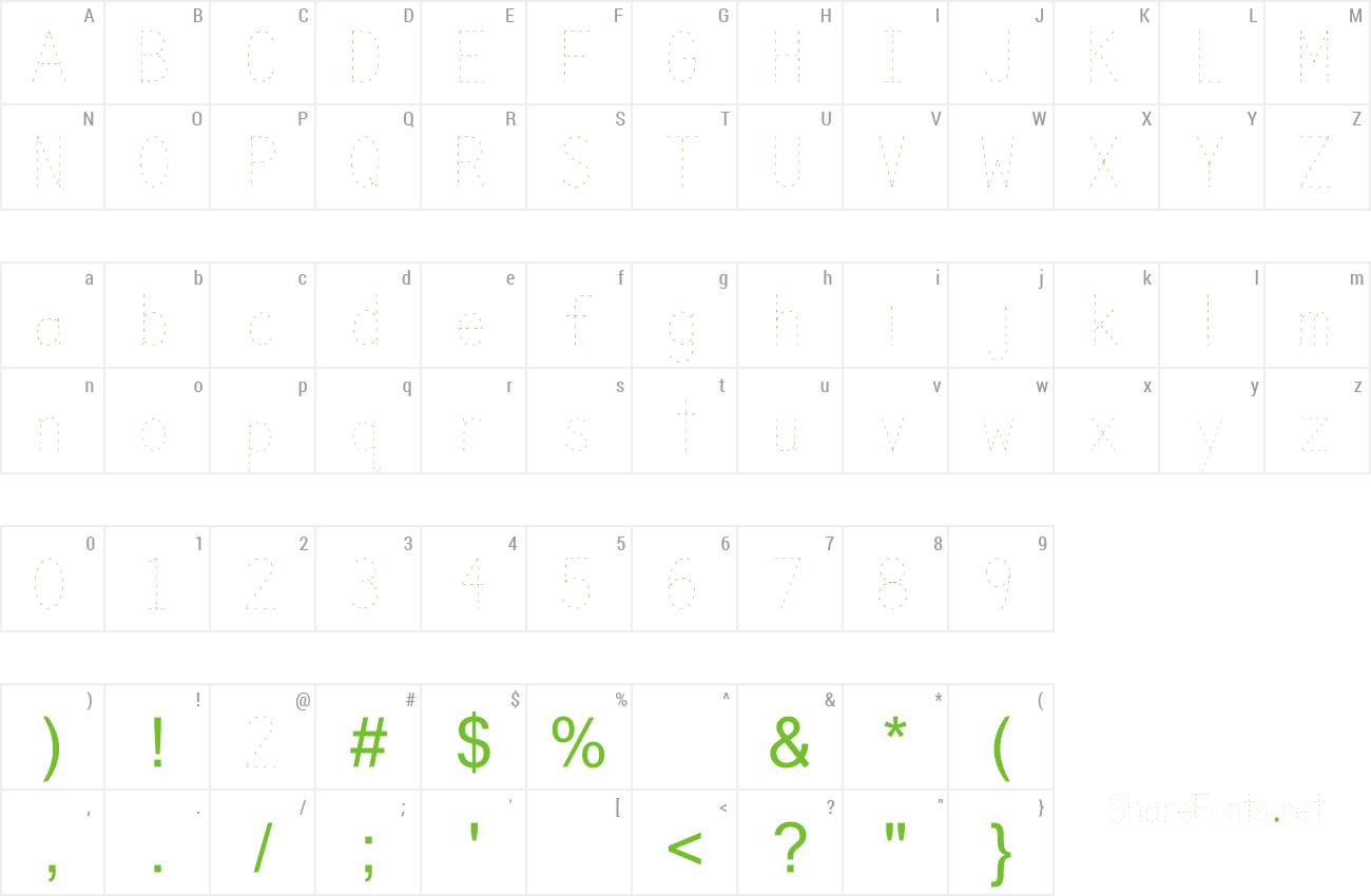 Download Free Font Trace