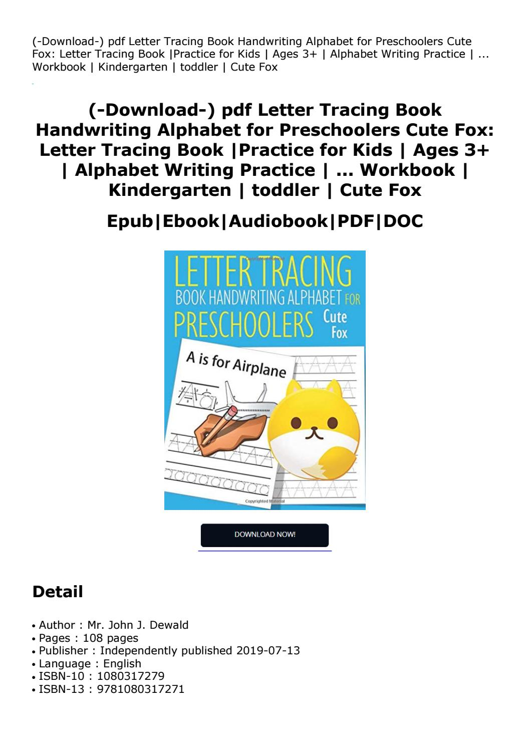 Download-) Pdf Letter Tracing Book Handwriting Alphabet For